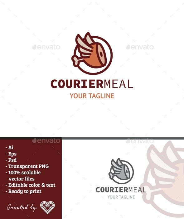 Courier Meal – Food Logo Templates