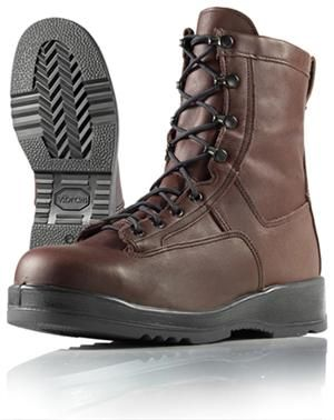 Wellco Mens 8 Inch Chocolate Steel Toe Navy Flight Deck Boots # C251: Upper: Chocolate Full… #TrapperSupplies #TrapperBooks #TrapperVideos