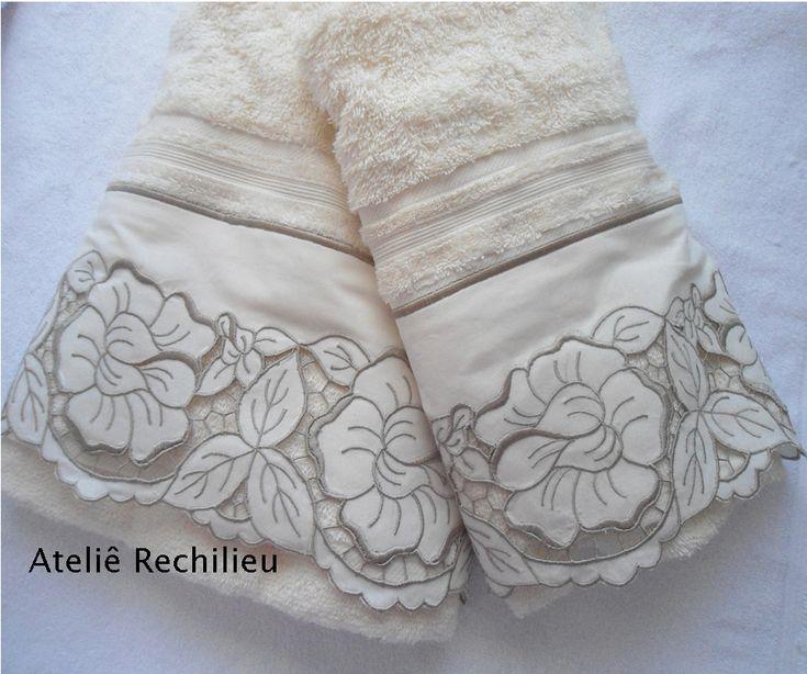 Toalhas bordadas richilieu www.facebook.com/rechilieu