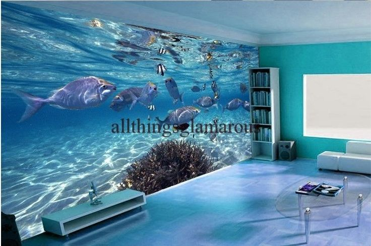 25+ best ideas about Aquarium mural on Pinterest  Plongeur, Décorations d -> Aquarium Design Mural