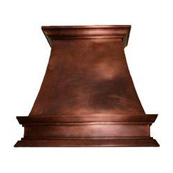 Copper Range Hood, Vent Hood 32, Style A
