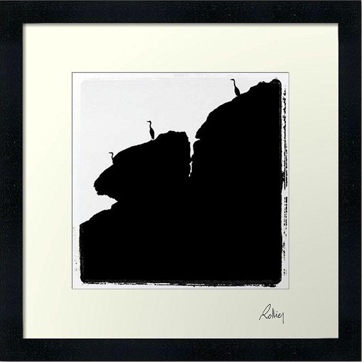 """Photo encadrée de Jean Luc Rollier """"Les Guetteurs"""" 30x30cm"""