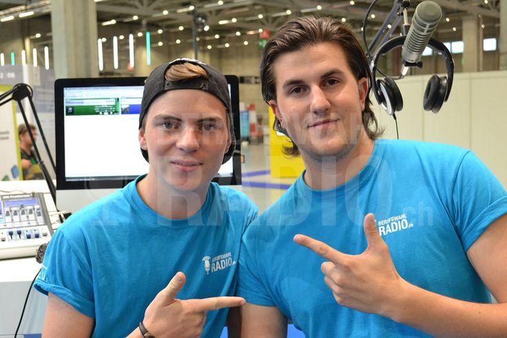 Max und Pascal posieren für ein Foto!