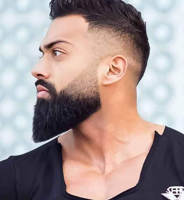 Fade and Detailed long Beard style