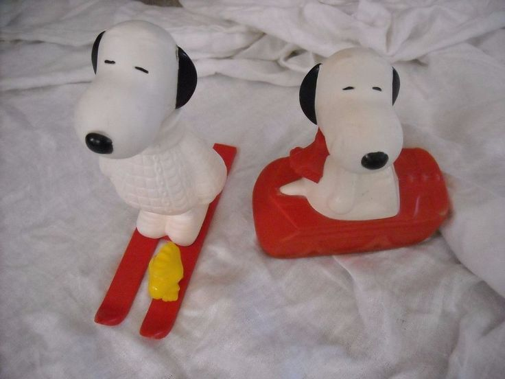 vintage lot snoopy peanuts toys plastic you get winter christmas decoration