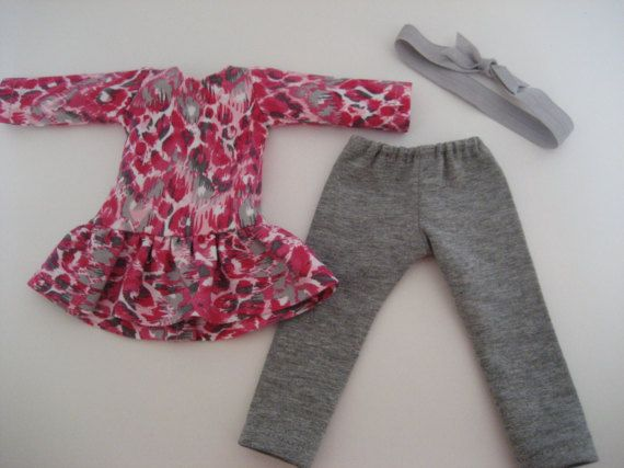 14.5 Inch  Doll ClothesPink Animal Print Dress Outfit made