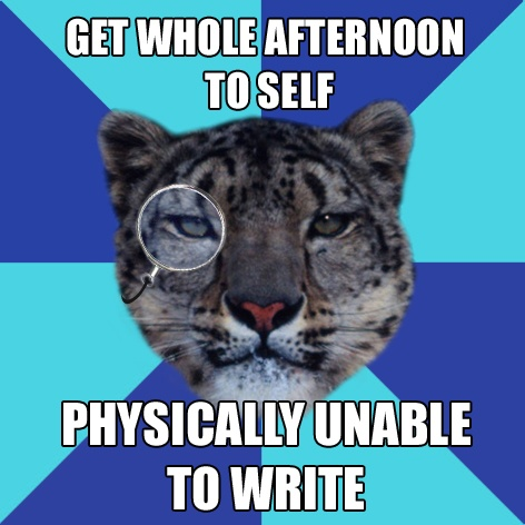 I have a major problem - I'm a writer, but I never want to write or read?