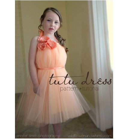 Tutu dress from wildflowers and whimsy via craftgossip- Easy to do, could make this for a flower girl! Image by Jennifer Smith