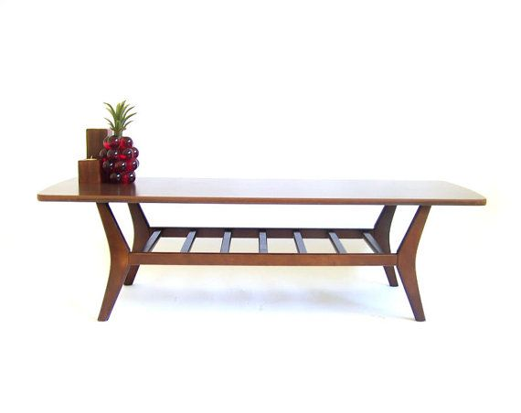 vintage surfboard coffee table walnut coffee by