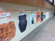 Hallway Art History timeline. I am SO in love with this idea!!