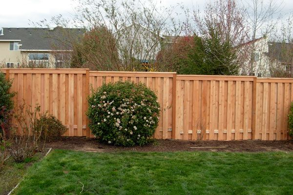 shadow box fence with trim and post caps - Google Search