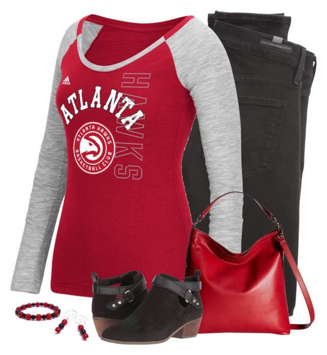 Atlanta Hawks Game Day by carriefdix on Polyvore featuring adidas, Citizens of Humanity, Dr. Scholl's and Rebecca Minkoff