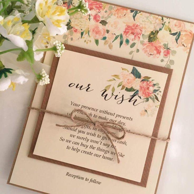 Caroline Rustic Wedding Invitation www.thevowweddings.com