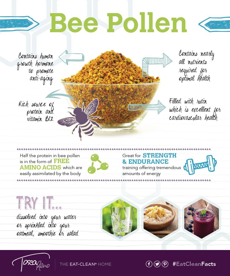 #BeePollen is a rich source of protein & vitamin B12? Add it to your next #smoothie! Yum! #EatCleanFacts