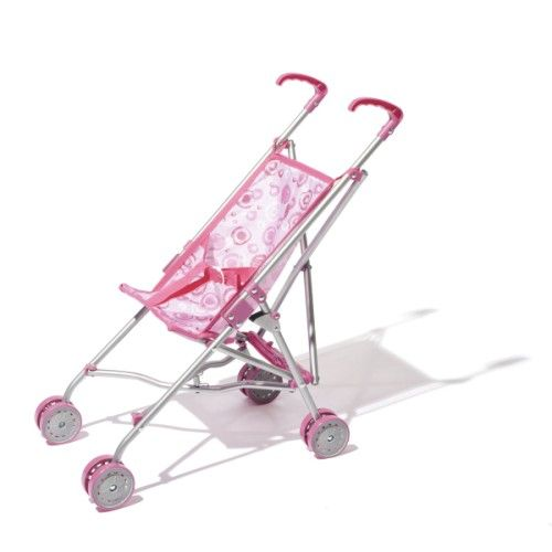 Avec une poussette canne comme celle-ci, il est facile d'emmener sa poupée en promenade. Elle est légère et se faufile partout. Et pour ne pas prendre de place dans la voiture, cette poussette canne se plie.