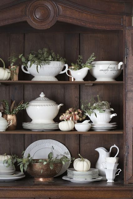 FRENCH COUNTRY COTTAGE: Details~ Natural Autumn - love the idea of using eucalyptus.  Thanks, Courtney!
