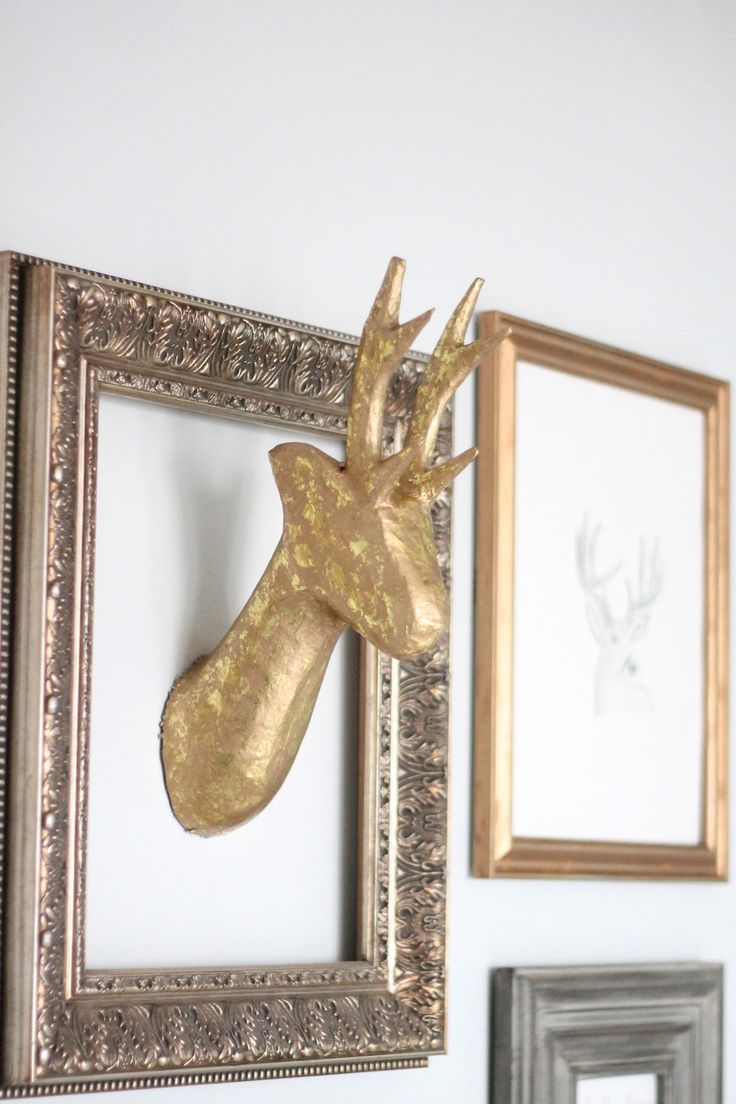 DIY Paper Mache Stag Head How easy, but I think that I would try to cover with pretty paper mache.