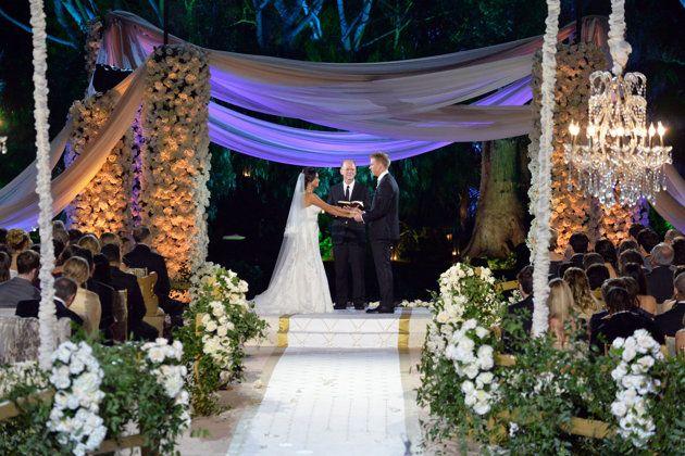sean and Catherine's wedding's inspired romantic feel