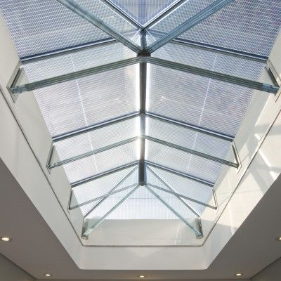 8/8 Example of a Glass Beam Supported Glass Rooflight.