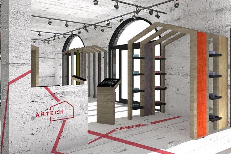 Contexte :Ce projet consiste à proposer deuxaménagements pour le futur showroom de peinture de la société ARTECH au Camp Ferrat de Sainte-Maxime. Les propositions ont eu comme ligne directrice la…