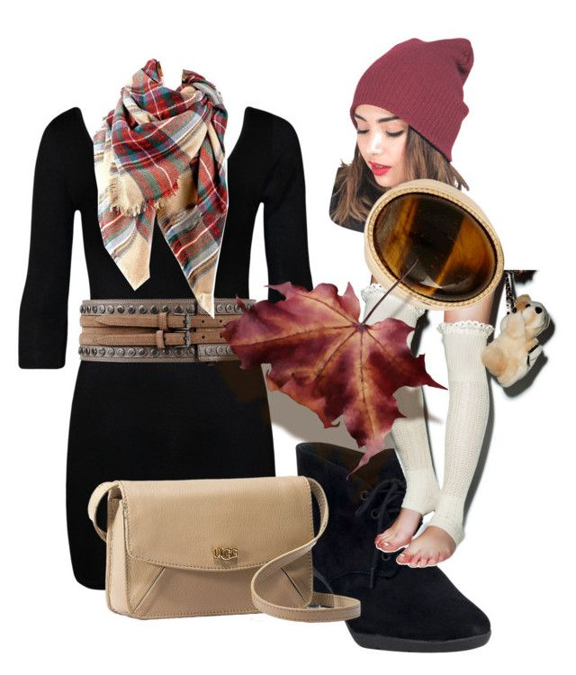 Autumn Air by kandaschue on Polyvore featuring polyvore fashion style WearAll Peony & Moss Clarks UGG Australia Warehouse WEST L.A. Belstaff clothing