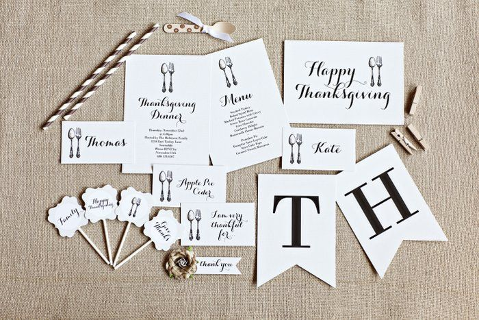 free thanksgiving printables from the amazing TomKat studio