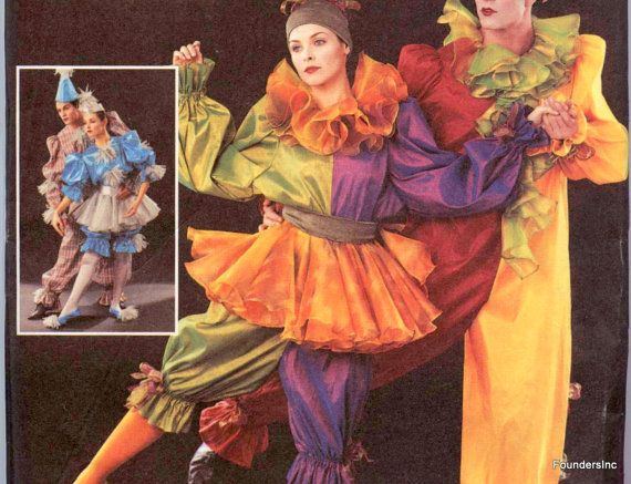Buterick 3598 - CIRQUE DE SOLEI - Lg to Xlg sizes - c.2006- Clowns / Dancers as shown- New and Uncut