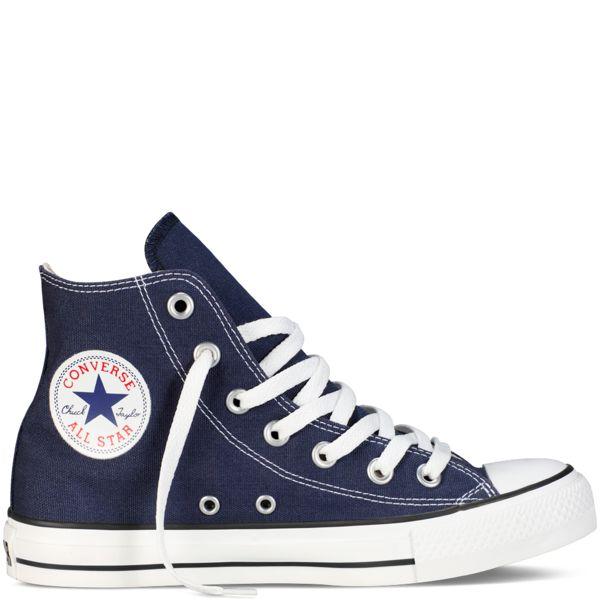 Converse - CT All Star Classic Hi Canvas Sneaker (Big Kid) - Navy · High Top  ...