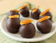 """Orange Truffles. """"Bright orange notes add a refreshing tang to these decadent chocolate truffles."""""""