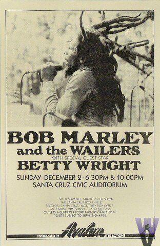 Bob Marley concert poster