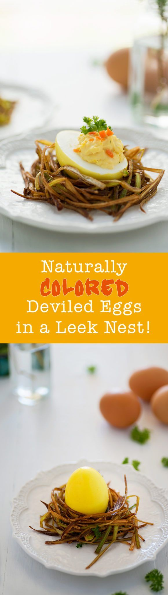 41 best paleo easter images on pinterest paleo food paleo this is perfect for my easter brunch naturally colored deviled eggs in a leek nest negle Image collections