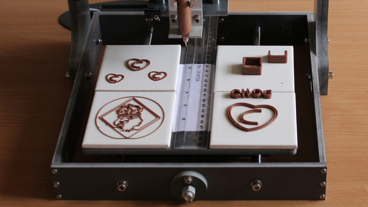 3-D chocolate printer...?! I might need this... for professional reasons.