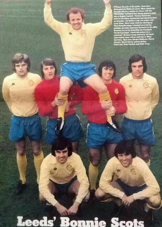 Leeds Utd's Scottish stars in 1974.