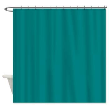 all solid Teal Shower Curtain