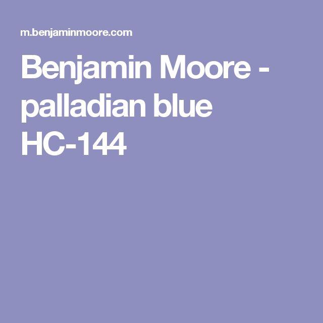 Benjamin Moore - palladian blue HC-144