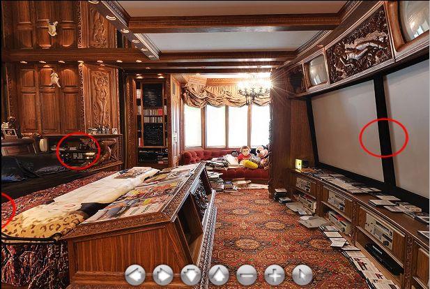 playboy mansion Hefners own bedroom  Celebrities Homes