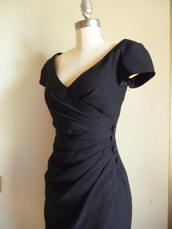 90s Black Cocktail Dress /small by BellaLunacyVintage on Etsy, $48.00