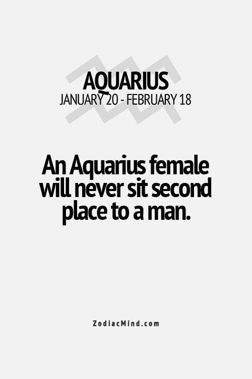 Una mujer de acuario jamas se siente en segundo lugar frente a un hombre...