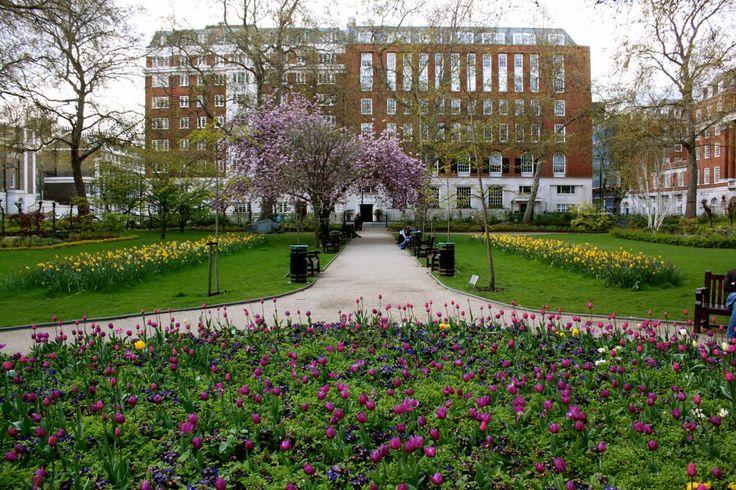 Tavistock Square in Bloomsbury, Borough of Camden, London