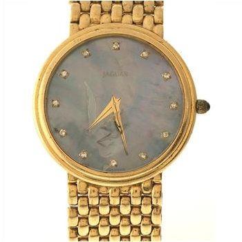 14kt Gold Jaguar Watch  http://www.propertyroom.com/l/damaged-14kt-gold-jaguar-watch/9565878