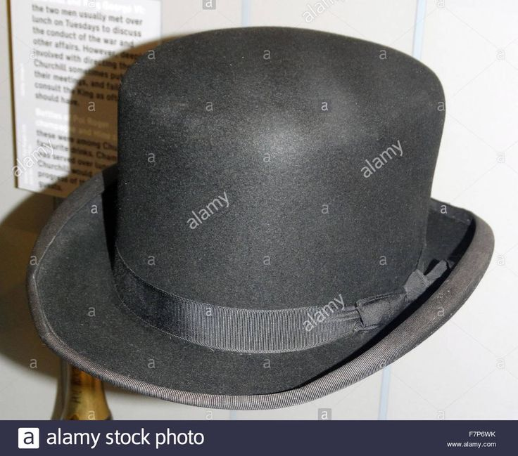 Bowker Hat belonging to Sir Winston Churchill, (30 November 1874 – 24 January 1965) , British Prime Minister from 1940 to 1945 and again from 1951 to 1955. Stock Photo