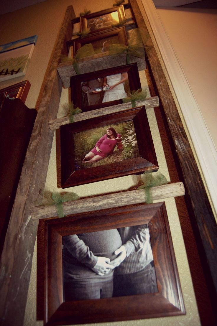 Ladder With Picture Frames Google Search Family