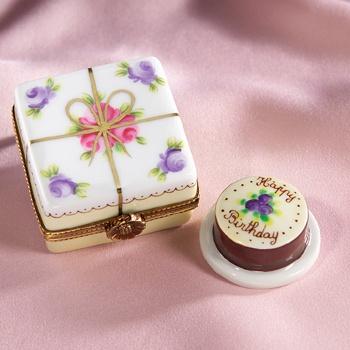 Limoges Birthday Cake Box