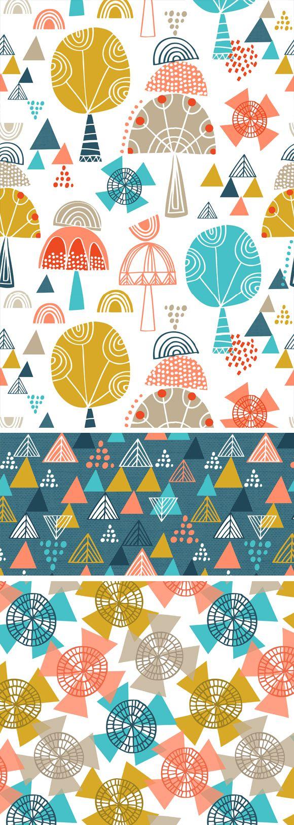 wendy kendall designs – freelance surface pattern designer » totem trees