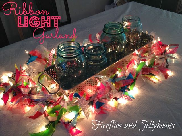 Ribbon Light Garland and a Pinterest Party (with Michaels Craft Stores!)