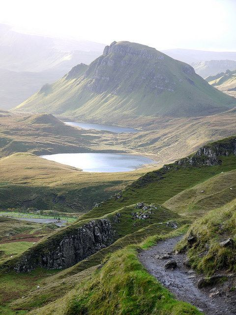 Walking the paths of The Quiraing, Isle of Skye, Scotland. The Quiraing is awesome. It is supernatural. It is a place of wonder and amazement. It is outstanding by any measure. If you are fit enough to walk the narrow path and scramble up and down the steep slopes – you must do it. To visit Skye without experiencing the Quiraing seems unthinkable. Photo by CJ 540 on Flickr.
