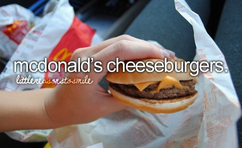 mcdonald's cheeseburgers: Baby Food, Mcdonald'S Cheeseburgers, Mcdoubl, Dinners Recipe, Cant Living, Girly Things, Cooking Steaks, Yummy, Dinners Etiquett