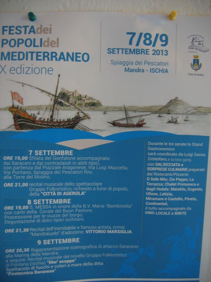 """Anche la """"Festa dei Popoli del Mediterraneo"""" avrà luogo a due passi dal nostro albergo :)  Qualcuno tra voi ci sarà?"""