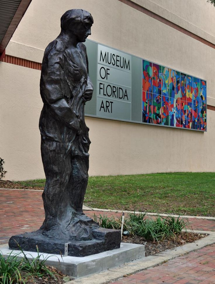 DeLand, Fla. - Standing close to nine feet tall, Sandro Chia's bronze Goddess (1999) was installed April 10, 2013, in preparation for the opening reception April 19, 2013, from 5 to 7 p.m. for three new Museum of Florida Art exhibitions at 600 N. Woodland Blvd. DeLand, Fla.