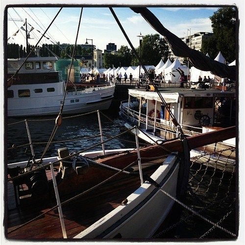 Annual Food festival in front of Oslo's harbour